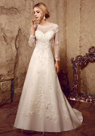 Long Sleeves A-line Wedding Dress