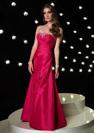 Strapless Pink A-Line Formal Prom Evening Dress HB115A