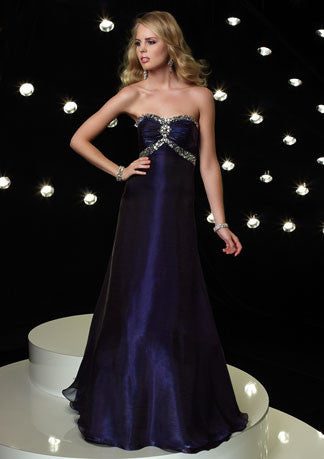 Purple Eggplant A-Line Formal Prom Evening Dress HB118A