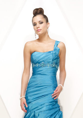 One Shoulder Slim A-Line Formal Prom Evening Dress HB136A