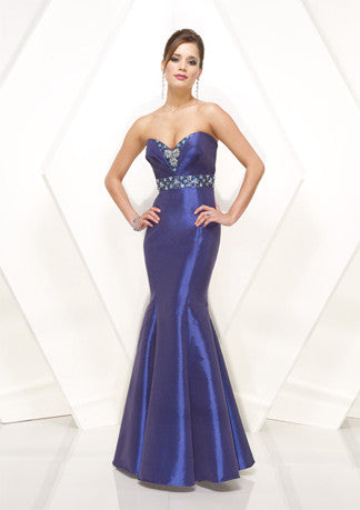 Blue Strapless Sweetheart Mermaid Formal Prom Evening Dress HB140A
