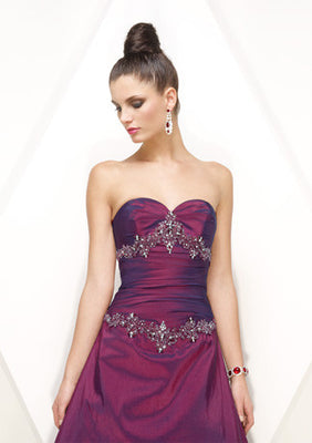 Strapless Sweetheart A-Line Embroidered Prom Formal Dress HB145A