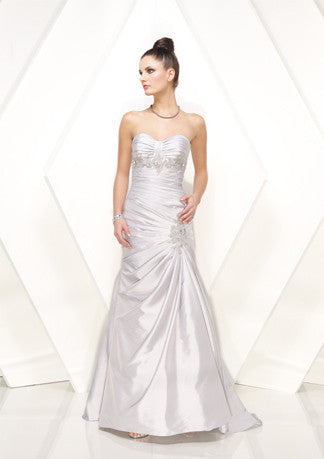 White Strapless A-Line Formal Prom Evening Dress HB149A