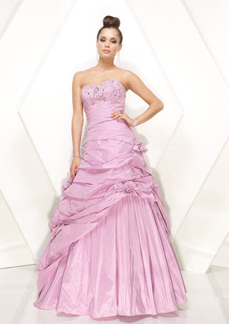 Lilac Pink Strapless Ball Gown Home Coming Formal Prom Dress HB151A