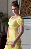 Yellow Regency Chiffon Evening Gown