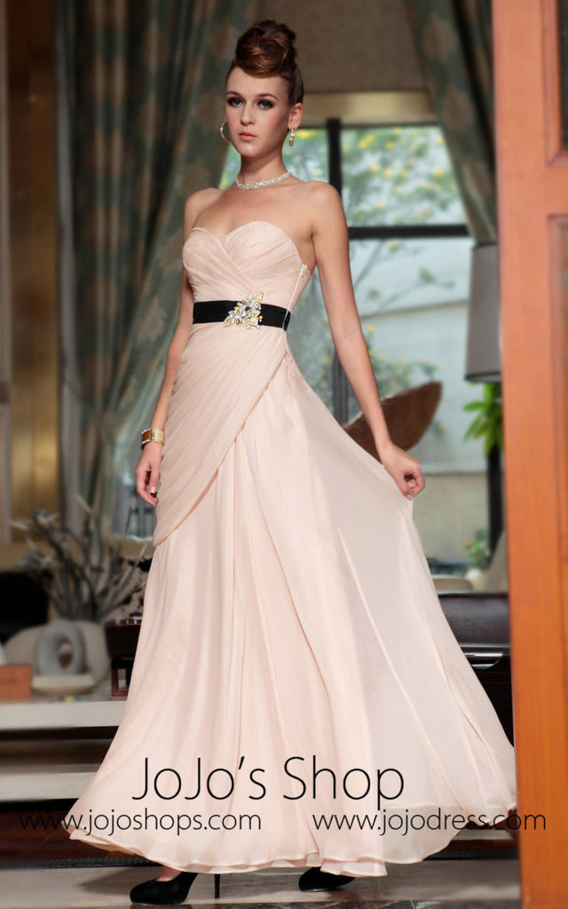 Beige Strapless Formal Prom Evening Dress Jojo Shop