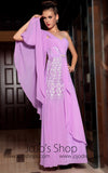 Modest Soft Magenta Prom Dress