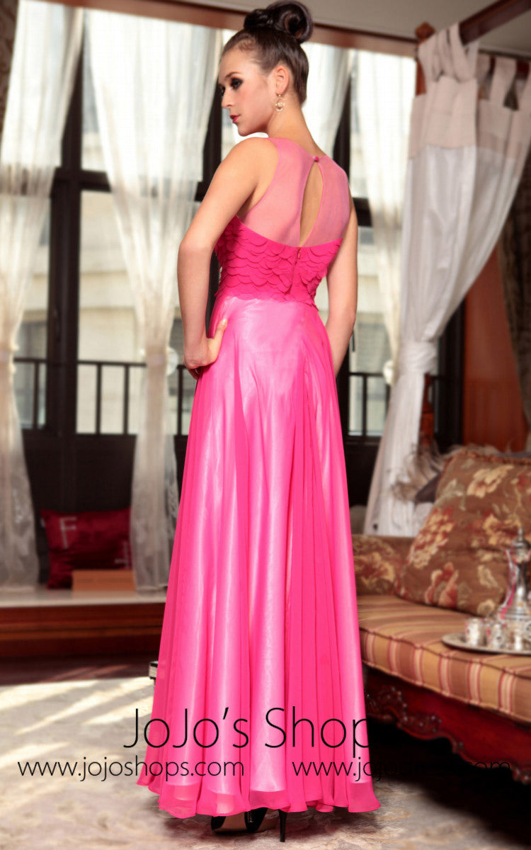 Hot Pink Fuchsia Prom Evening Dress
