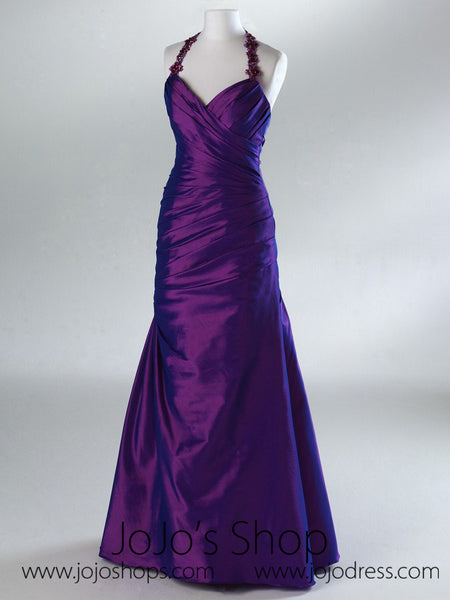 Purple Strapless Fit And Flare Formal Prom Evening Dress HB2014B