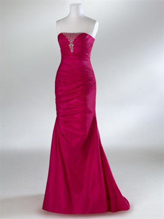 Fuschia Pink Sleek Classy Formal Prom Graduation Dress HB2015B