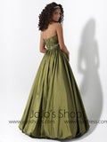 Green Ball Gown Bubble Hem Formal Graduation Prom Evening Dress HB2016C