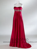 Fuschia Empire Strapless Evening Formal Prom Dress HB2017A