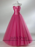 Pink Strapless Ball Gown Formal Prom Sweet Sixteen Dress HB2018A
