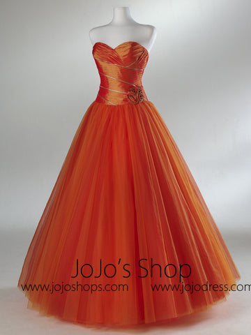 Orange Home Coming Prom Formal Dress HB2018B