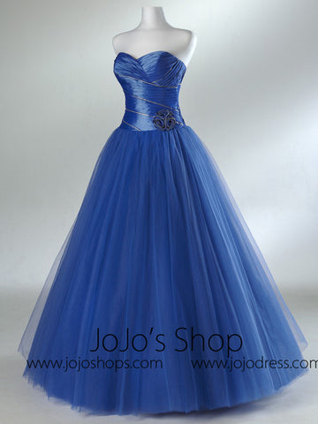 Blue Home Coming Prom Formal Dress HB2018C