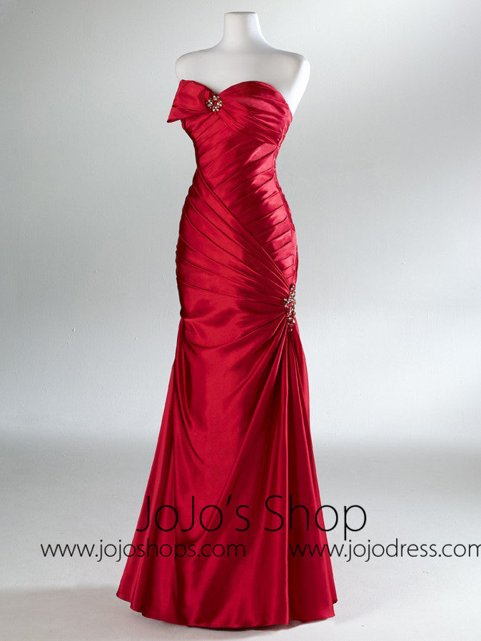 Red Fit And Flare Classy Formal Prom Evening Dress HB2021B – JoJo Shop