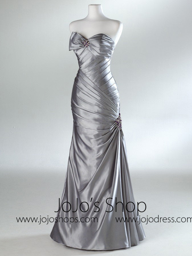 Silver Mermaid Prom Formal Evening Dress HB2021C