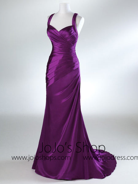 Violet Fit And Flare Graduation Prom Evening Dress HB2022A