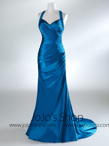 Blue Formal Graduation Home Coming Dress HB2022B