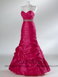 Fuschia Pink Fit N Flare Empire Formal Prom Evening Dress HB2023A