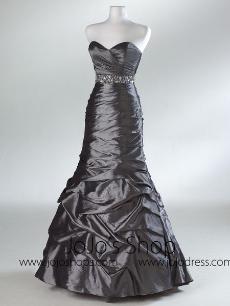 Silver Empire Sweetheart Formal Prom Evening Dress HB2023B