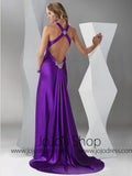 Purple Formal Black Tie Military Ball Gown HB2024C