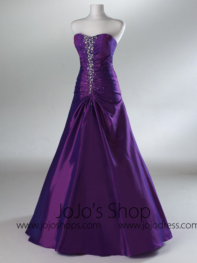 Purple Graduation Formal Military Ball Gown  HB2025A
