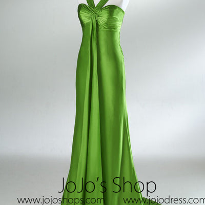 Green Empire Slim Formal Graduation Dress HB2026A