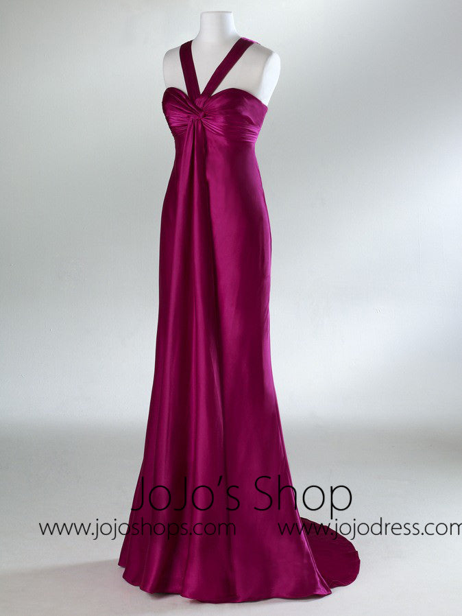 Pink Purple Empire Formal Prom Bridesmaid Dress HB2026B