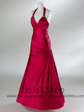 Halter Fit N Flare Graduation Prom Formal Dress HB2027A
