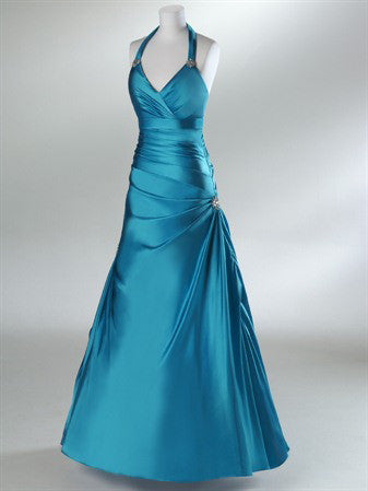 Halter Military Ball Gown Formal Prom Dress HB2027B