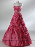 Fuschia Pink Strapless Sweet Sixteen Ball Gown  HB2029A