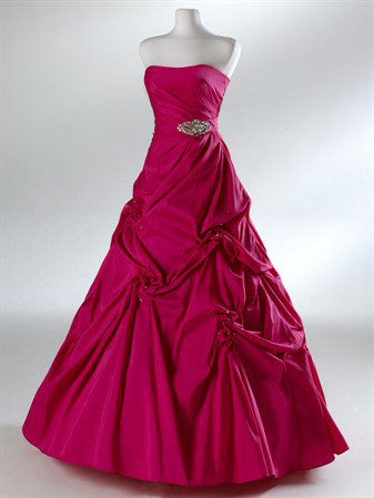 Red Ball Gown Formal Evening Graduation Dress HB2029C