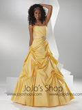 Yellow Strapless Home Coming Ball Gown Dress HB2029D