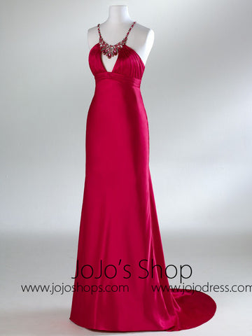 Red Full Length Prom Formal Graudation Dress HB2031A