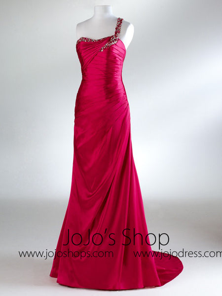 Greican One Shoulder Prom Formal Bridesmaid Dress HB2033A