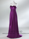 Empire Strapless Formal Bridesmaid Prom Evening Dress HB2034A