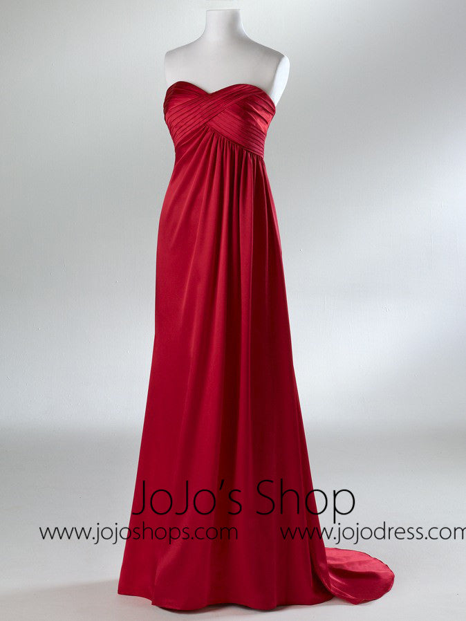 Red Empire Waist Military Ball Gown HB2034B – JoJo Shop
