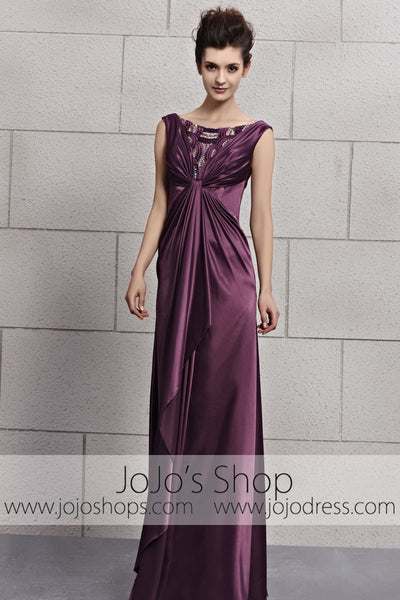 Purple Low Back Silky Sleek Stage Home Coming Evening Cocktail Dress CX830113