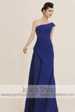Grecian Blue One Shoulder Home Coming Prom Evening Cocktail Dress CX830132