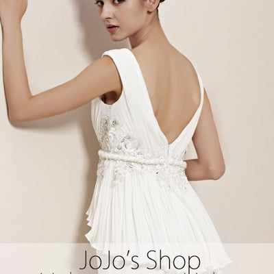 Ivory Grecian V Neck Prom Home Coming Evening Cocktail Dress CX830166