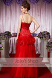 Red Sweetheart Tulle Long Elegant Prom Formal Evening Dress CX830503