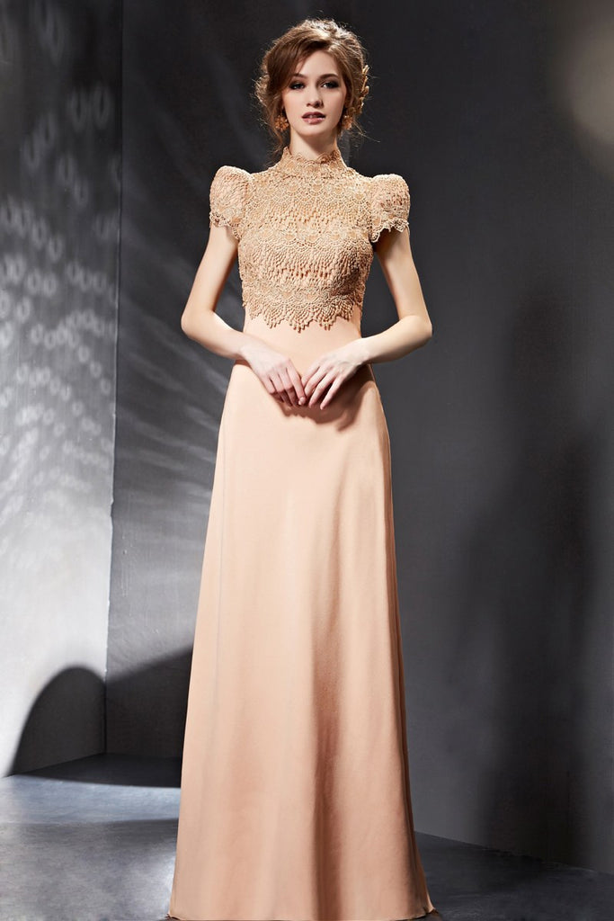 Modest Vintage Lace Formal Evening Prom Dress Victorian Style – JoJo ...