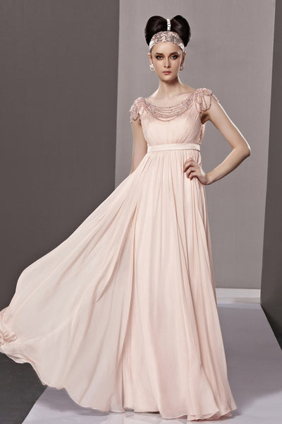 Blush Pink Short Sleeve Princess Home Coming Prom Dress CX881209