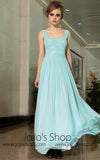 Elegant Pastel Blue Formal Prom Evening Cocktail Dress With Straps DQ830876