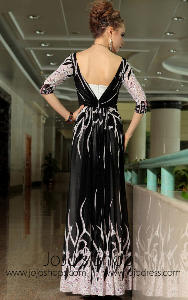 Quater Sleeves Multi Color Formal Chiffon Prom Evening Cocktail Dress DQ830878