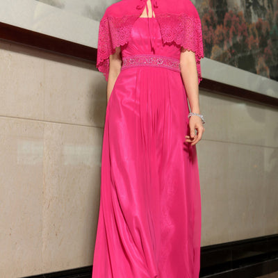 Hot Pink Grecian Formal Prom Evening Cocktail Dress DQ830881