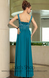 Teal Grecian Chiffon Strapped Formal Prom Evening Cocktail Dress DQ830885