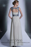 Grecian Keyhole Ivory Formal Prom Dress DQ830923