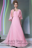 Pink Modest Formal Prom Evening Dress DQ830929